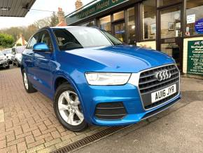 Audi Q3 1.4T FSI SE 5dr S Tronic Estate Petrol Blue at Worlingham Motor Company Beccles